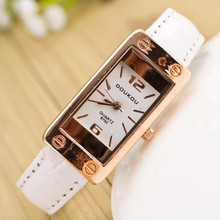 Hot 2015 New Fashion Luxury Rectangle Style Casual Watch Women Wristwatch Quartz Watch Relogio Feminino Hours