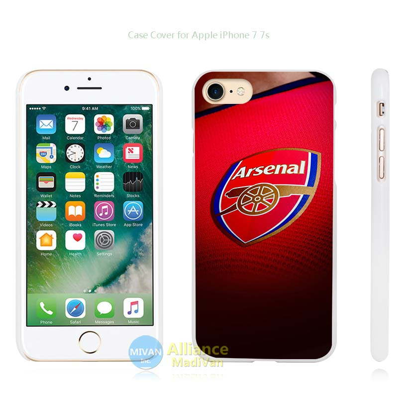 arsenal football england soccer Hard White Case Cover for Apple iPhone 4 4s 5 5s SE 5C 6 6s 7 7s Plus(China (Mainland))