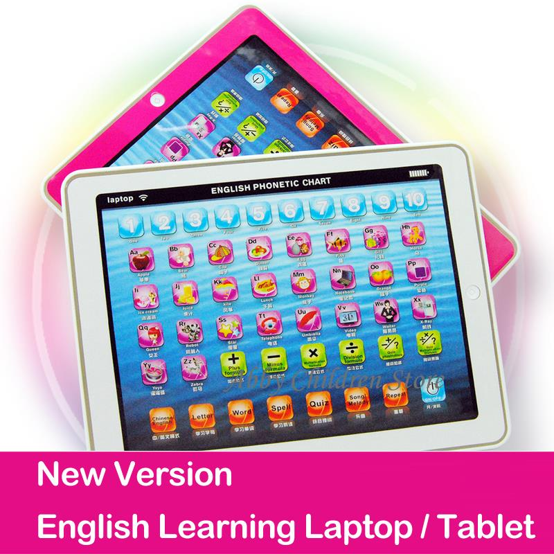 Wholesale 2015 New Lignted Baby Kid Child Touch Laptop Learning English Electronic Tablet Pad Educational Learning Machine Toy<br><br>Aliexpress