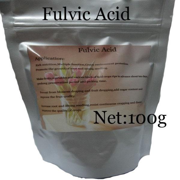 Trasporto libero-ferilizers agriculutre fertilizzanti fulvic acido per fiori piante da giardino 100g(China (Mainland))