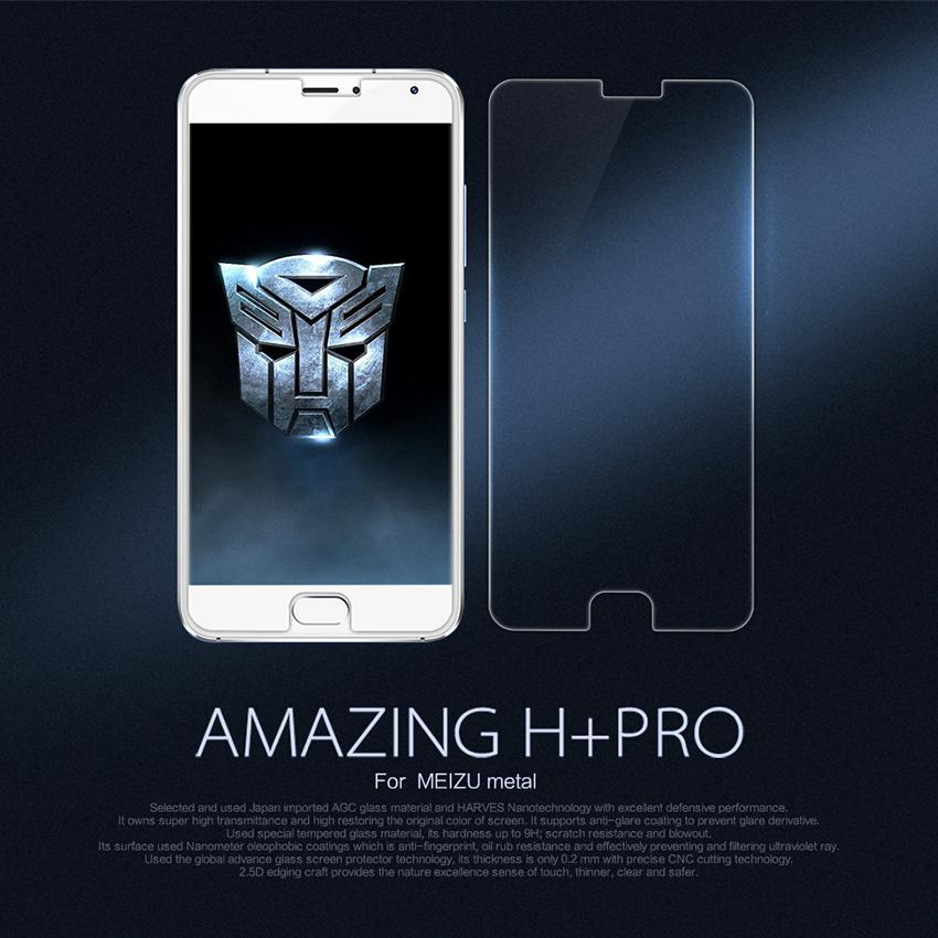 NILLKIN Amazing H+PRO 0.2mm Anti-Explosion 9H 2.5D Screen Protector Film For Meizu M1 Metal/Blue Charm Metal Tempered Glass(China (Mainland))