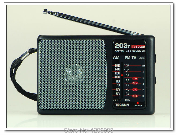TECSUN R-203T FM / MW/ TV Sound Radio Receiver(China (Mainland))