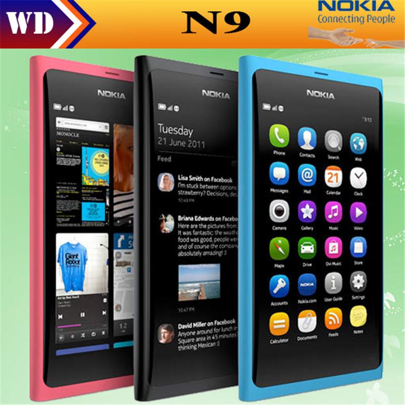 Original Nokia N9 8MP MeeGo OS 1GB RAM 16GB ROM Wi-Fi FM radio Touchscreen cell phone refurbished(China (Mainland))