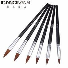 2016 New Pro 6Pcs Nail Brush Kit UV Gel Brushes Pen Styling Nails Art Painting Drawing Tool Dot Toos(China (Mainland))