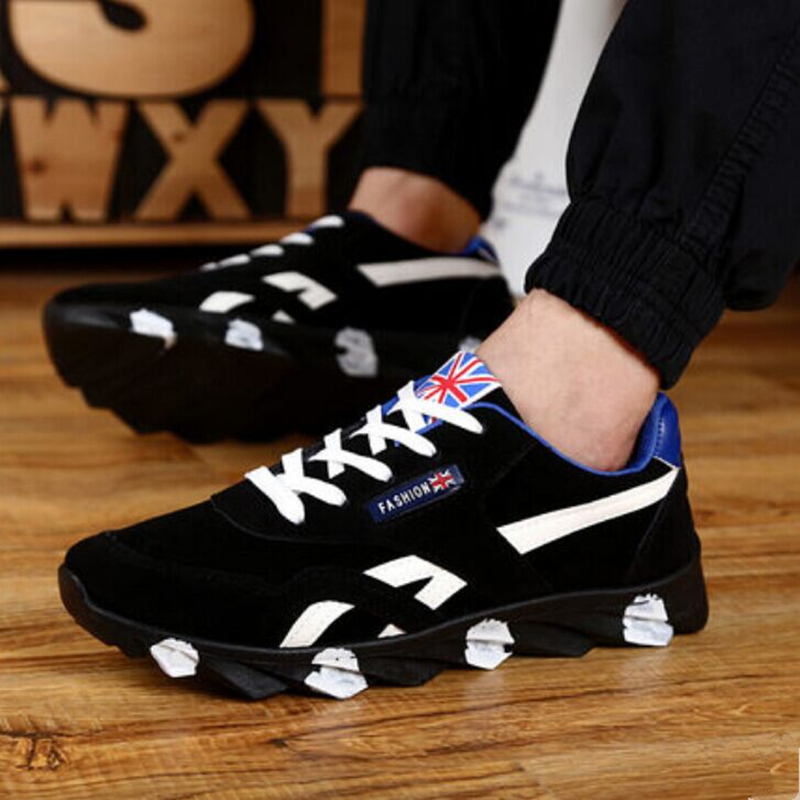 2016 Sales Promotion Spring outdoor Black fashion Casual for men trainers Breathable Shoes Free shipping zapatos hombre EUR46<br><br>Aliexpress