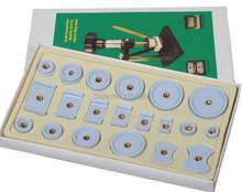free shipping 20 pcs Nylon Derlin Dies Set Replace 4 Watch Case Back Crystal Closer Press Repair Tool(China (Mainland))