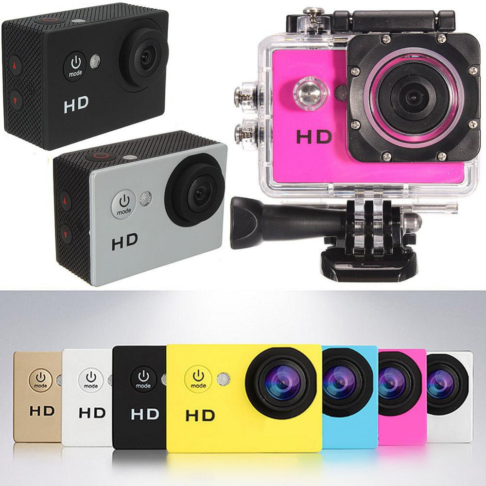 New SJ4000 Mini Action Camera 720P HD Cam Waterproof 30M Sport DV Camcorder Black / White / Silver / Red / Yellow / Gold / Blue(China (Mainland))
