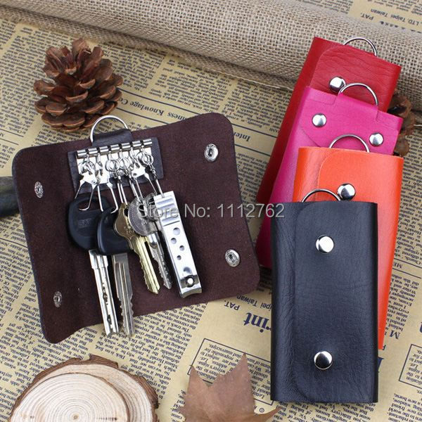 1pc New Key Wallets Women and Men Faux Leather Keychain Holder Bag Purse Case Multichoice Color Free Shipping eLLrB(China (Mainland))