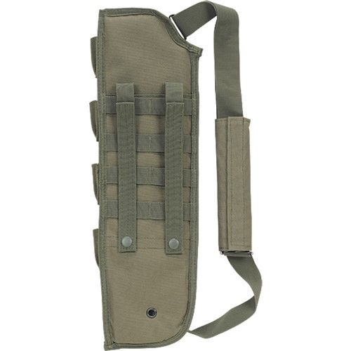 Sports bag Tactical Breacher's Hunting Shotgun Scabbard Molle With Shell Pouch For Short Barrel Hunting Bags & Holsters(Green)(China (Mainland))