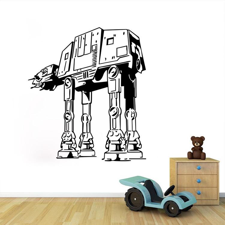 Star wars autocollant promotion achetez des star wars for Autocollant mural star wars