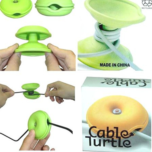 2014 Cable Turtle Cord Wire Wrap Organizer Winder Box Headphone Earphone Three Colors - Guangzhou PinCe household products co., LTD store