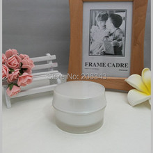 50G pearl white acrylic BARREL SHAPE cream bottle,cosmetic container,,cream jar,Cosmetic Jar,Cosmetic Packaging - packing world -cosmetic and medicine store