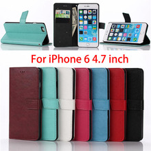 Business Style Crazy Horse pattern Wallet Leather Flip Case Cover For iPhone 6 6S 4.7″inch With Stand Function Case For iPhone6