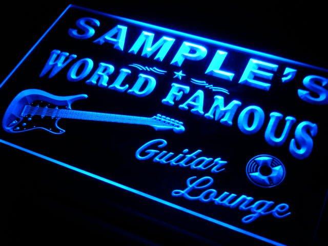 pf-tm Name Personalized Custom Guitar Band Room Bar Beer Neon Sign(China (Mainland))