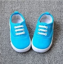 Insole 13~16.2cm kids child candy solid colors children shoes for baby boys sneakers girls canvas sports shoes(China (Mainland))