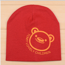 Retail 1-3 years old boys and girls summer spring baby hats,19 colors cotton animal printed infant caps kids knitted cap     095(China (Mainland))