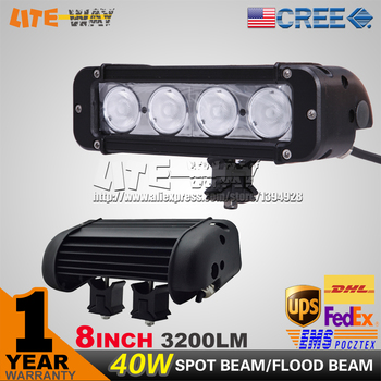 40W CREE LED LIGHT BAR 8 INCH LED DRIVING LIGHT BAR SPOT FLOOD BEAM FOR OFFROAD MARINE BOAT TRACTOR ATV 4x4 UTV USE