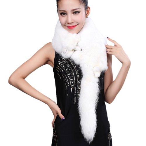 "Ursfur Natual Real Fox Fur Muffler Scarf Wraps Women Winter Pashmina Shawl Girl Female Warm Fur Collar Scarves 44"" Free Shipping(China (Mainland))"