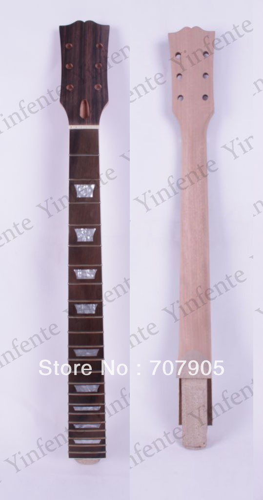 LP style Guitar Neck Mahogany wood 22 Fret Guitar Parts 24.75 inch rosewood fretboard #1<br><br>Aliexpress