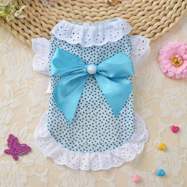 Summer New Cat Dog Clothes Puppy Dog Princess Dress Shirt With Nylon Lace Sexy Breathable Pet Clothing for Chihuahua Teddy XS S M L XL2