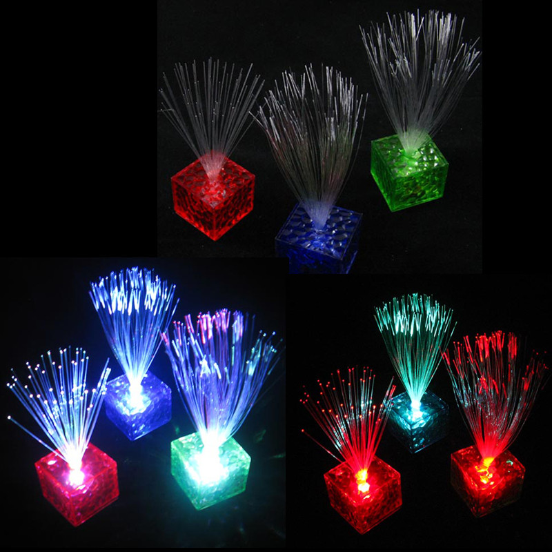 Colors Changing Optical Fiber Flashing Party Energy-saving Romantic LED Night Light Home Club Party Valentine's Day Gift(China (Mainland))