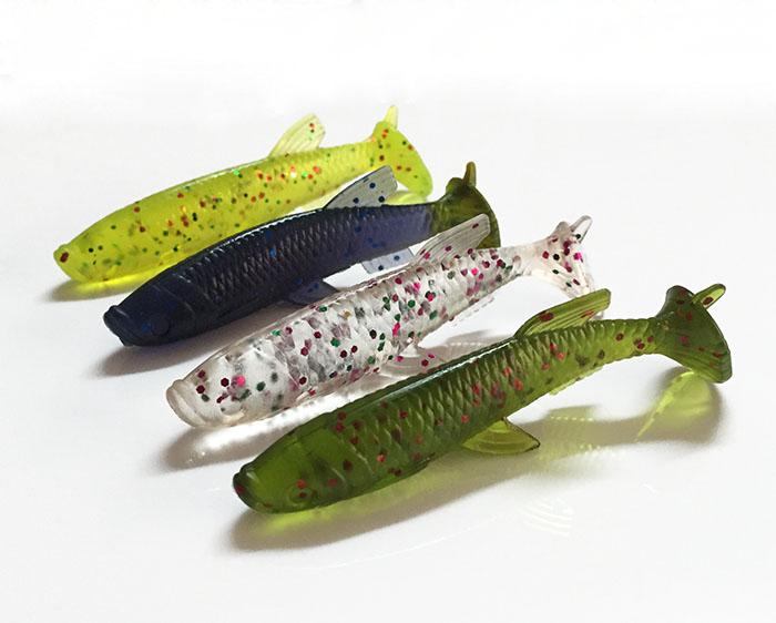 4Pcs Soft Bait Fish 7.1cm 5.5g Fishing Lure Soft Silicone Tiddler Bait Swimbaits Lure Pasca(China (Mainland))
