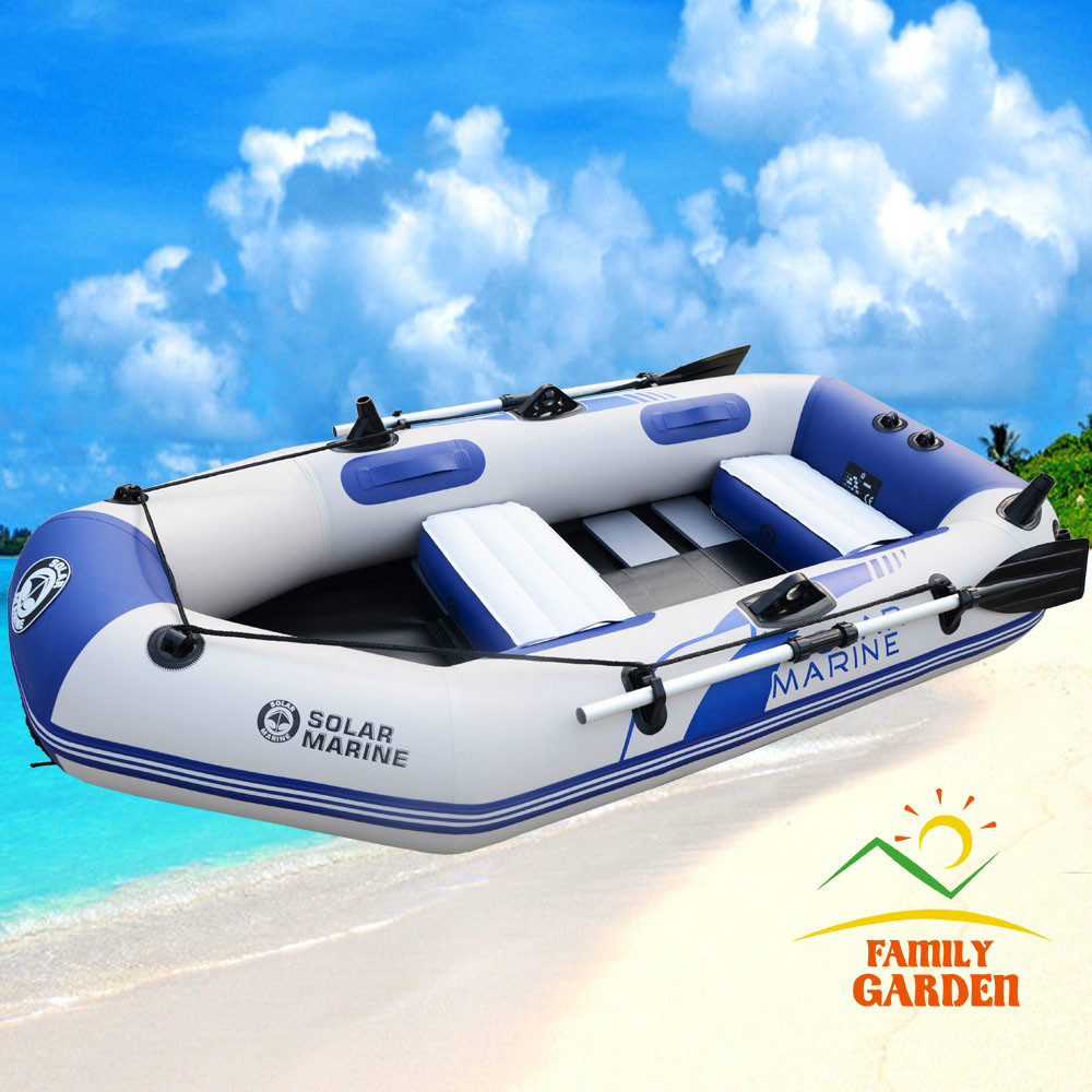 3 Person Inflatable Fishing Boat Kayak Canoe With Wooden Slats Bottom For Drifting Surfing Sandbeach(China (Mainland))
