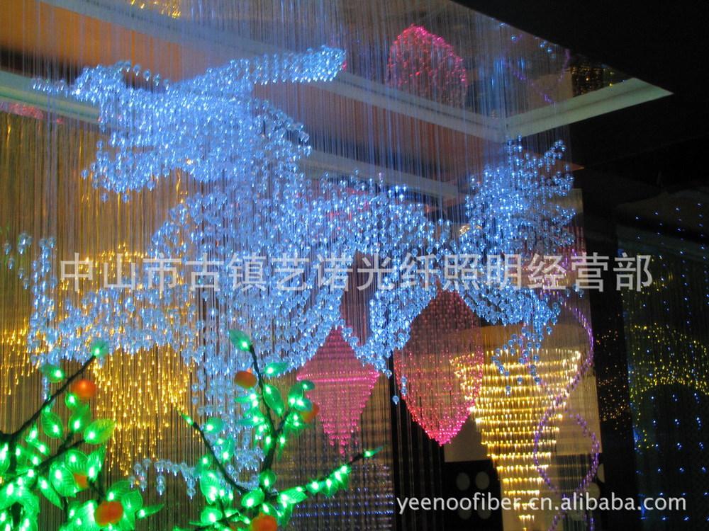 fiber optic lamp Colorful dragon illusion modern optical fiber chandelier star ceiling lights fiber optic light engine dmx(China (Mainland))