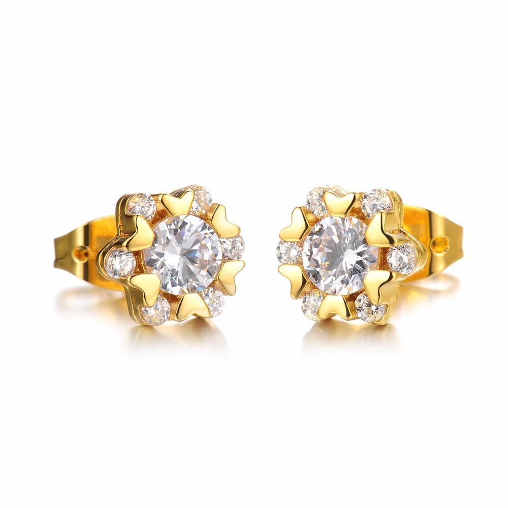 stainless steel earrings white stud earrings for