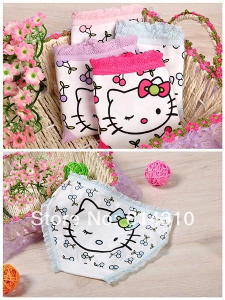 2pcs baby girls' panties catoon shorts Hello Kitty shorts pants girls' underwears cotton shorts(China (Mainland))