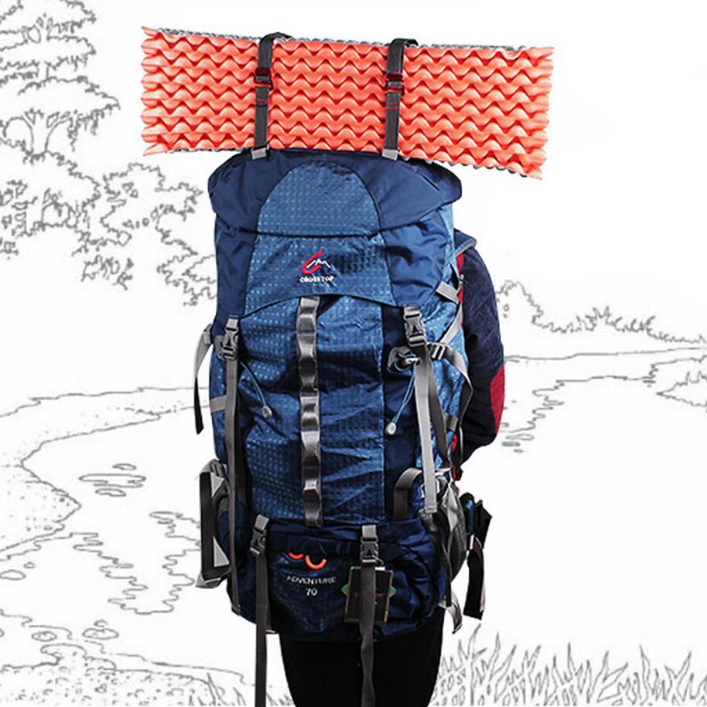 Multifunction Black Hook Loop Fastening Strap for Bundling Luggage, Tents, Backpacks