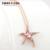 Top Quality Starfish with Wintersweet Necklace  Rose Plated Fashion Jewellery Nickel Free Pendant Crystal ZYN043 ZYN044