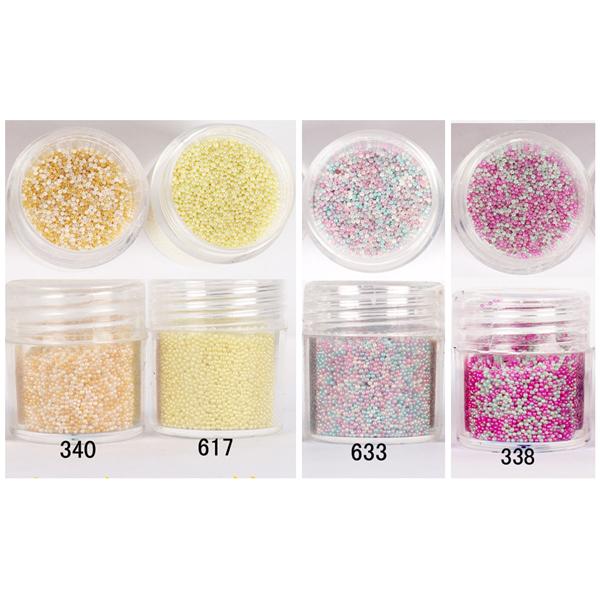 1 Box Mixed Light Summer Color 10ml 3D Nail Steel Ball Nail Art Decoration Caviar Beads Manicure Glitter Beads(China (Mainland))