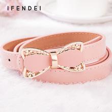 Buy IFENDEI Womens Dress Belts Bow Belt Women Faux Leather Female Belts Waist Strap Luxury Ceinture Femme Jeans women for $6.00 in AliExpress store
