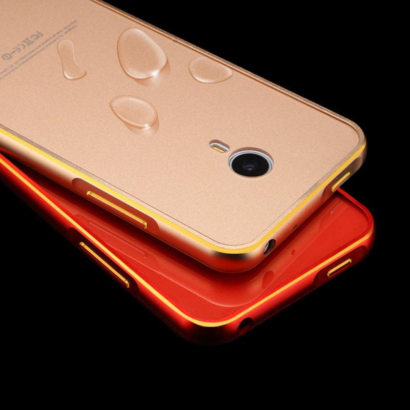 Luxury Meizu MX4 Aluminum Case For Meizu MX 4 Metal Frame + Acrylic Back Cover For Meizu MX 4 Cell Phone Shell Bag(China (Mainland))