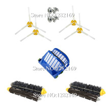 Buy 4x Main Brush kit + 2x Blue AeroVac Filter + 4x Side brush + 4x Srew Replacement irobot roomba 600 Series 620 630 650 660 for $17.26 in AliExpress store