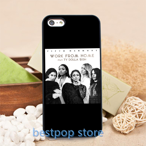fifth harmony work from home (2) cell phone case for iphone 4 4S 5 5S SE 6 6S 6plus 6s plus #0427S(China (Mainland))
