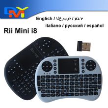 English layout Rii mini i8 Keyboard Air Mouse Multi-Media Remote Control Touchpad Handheld for Android TV BOX Notebook Mini PC