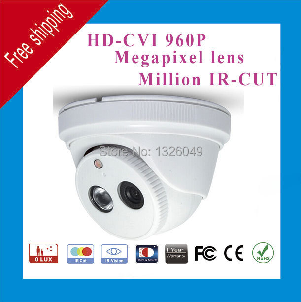 Free Shipping DAHUA HD CVI 1.0MP cctv camera 15m distance Hikvision mini plastic Dome Camera day and night 24 hour home security(China (Mainland))