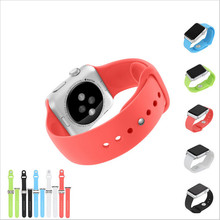 Newest WatchBand For Apple Watch Strap Split Silicone Wrist Band Strap For apple watch 38mm 42mm