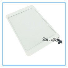 High Quality White Color Touch Screen Digitizer with Home Button and IC Connector Assembly for iPad mini 1 2 Touchscreen