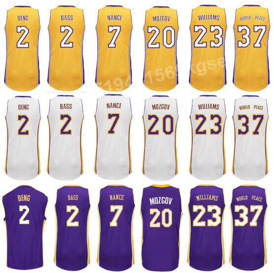 New Printed 17 Roy Hibbert Jersey 2 Brandon Bass 7 Jr Larry Nance 23 Lou Williams Shirt Uniform 2 Luol Deng 20 Timofey Mozgov(China (Mainland))