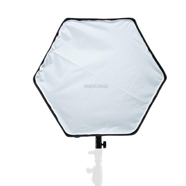 ถูก Selensถ่ายภาพซอฟท์กล่อง60เซนติเมตรหกเหลี่ยมS OftboxกับL-รูปร่างแหวนอะแดปเตอร์สตูดิโอถ่ายอุปกรณ์เสริมด่วนตั้งค่า