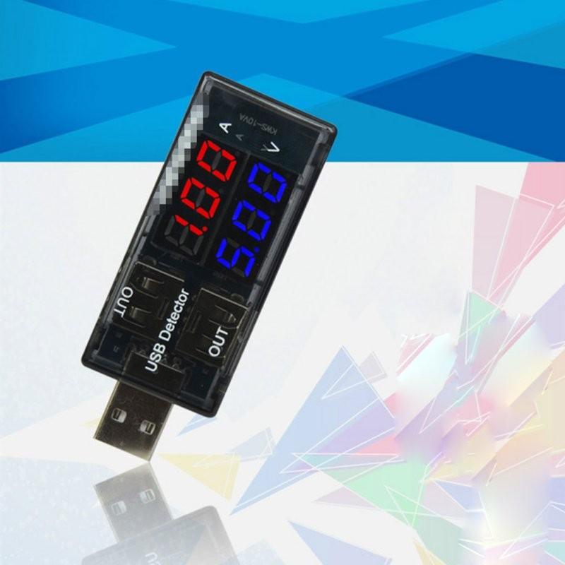 1X LED USB Current Voltage Charging Power Detector Tester Volt Meter Ammeter 2017 Hot