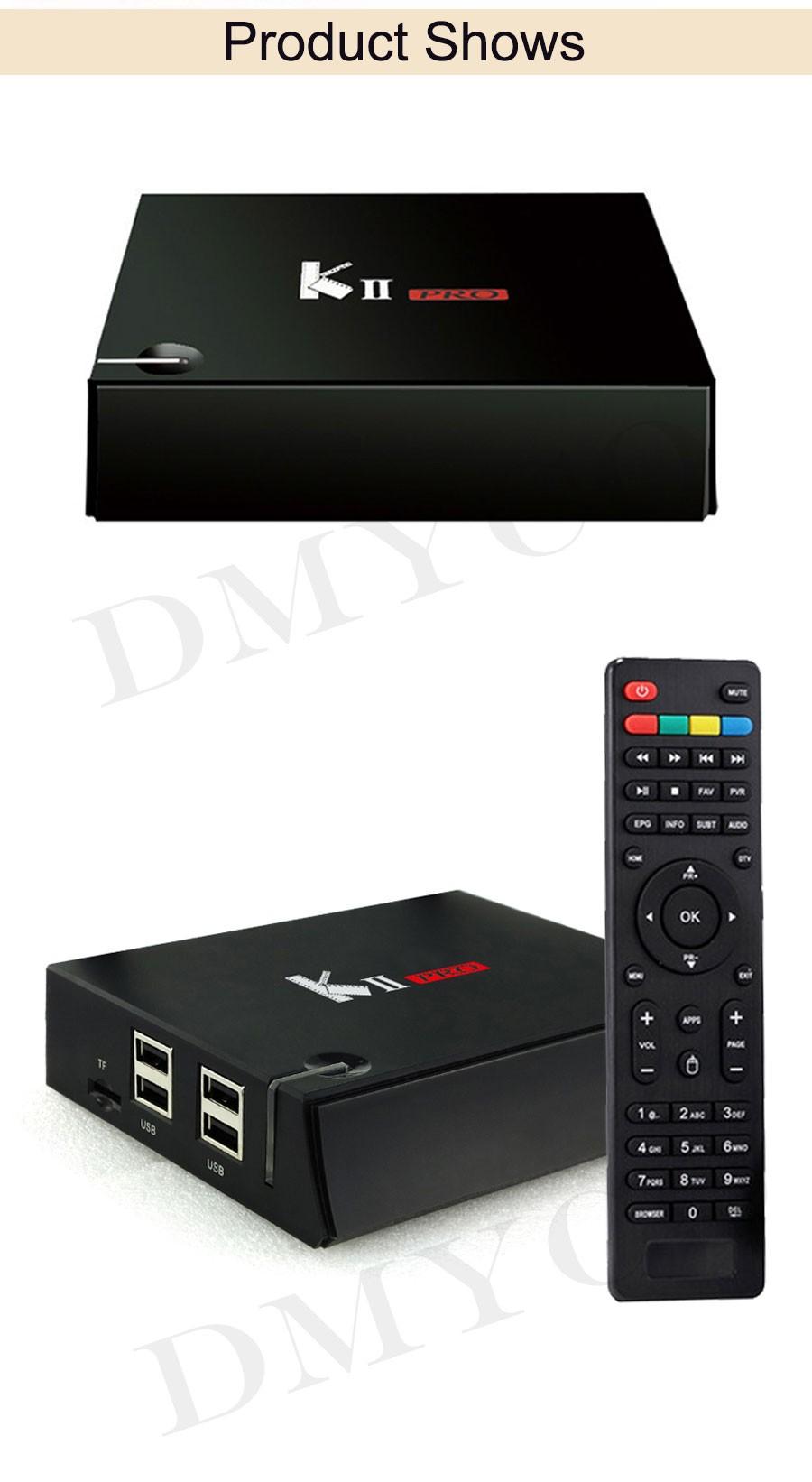 ถูก KII Pro DVB-T2 + DVB-S2 Android 5.1ทีวีกล่อง2กิกะไบต์/16กิกะไบต์Amlogic S905 Quad-core Kdoi 17.0 4พัน* 2พัน2.4กรัมและ5กรัมคู่อินเตอร์เน็ตไร้สายบลูทูธKIIpro