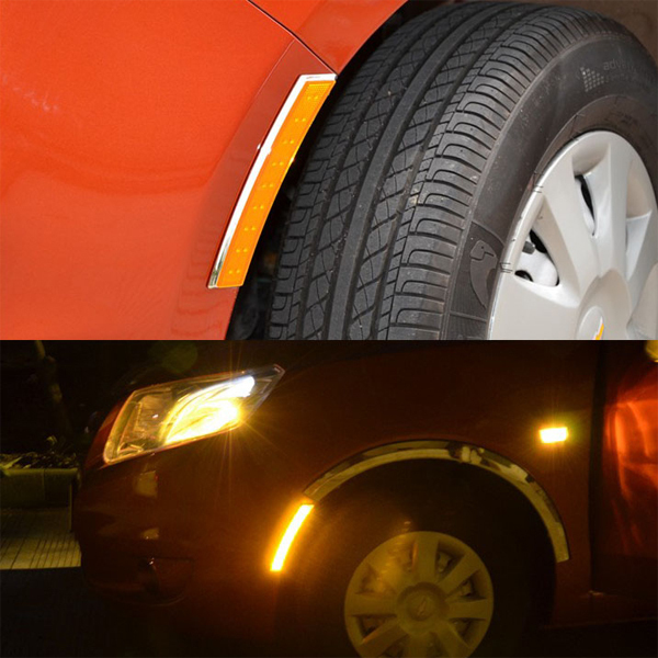 2014 newest / pair universal Car styling 3 Color plate leaves turn signal LED Fender flares light - AUTO mechanist store