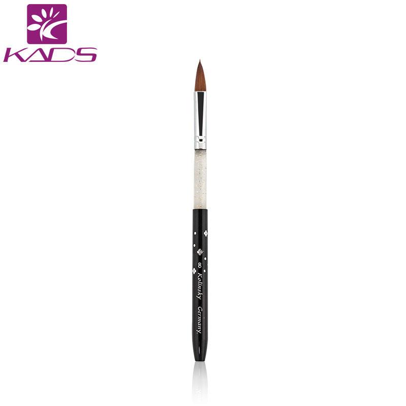 Wholesale 100PCS/LOT GREAT QUALITY 100% kolinsky sable size 8# black acrylic nail brush for nail art.beautiful nail art<br><br>Aliexpress