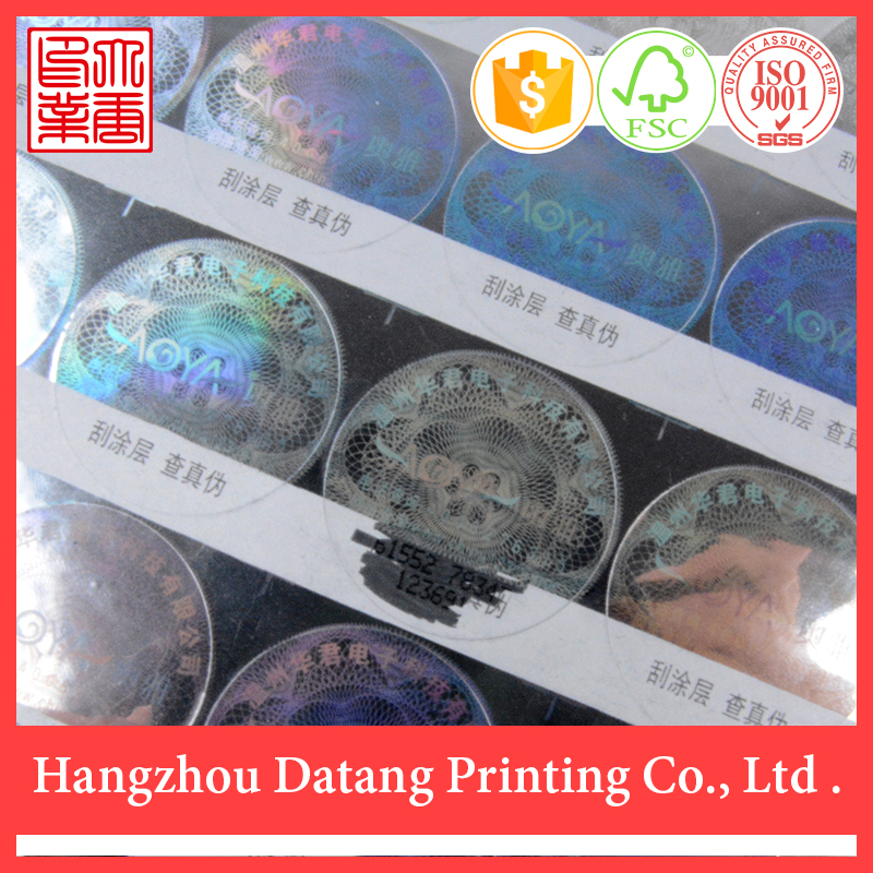 Wholesale 2015 high quality china cheap new fashion design clear custom printed company logo security stickers(China (Mainland))