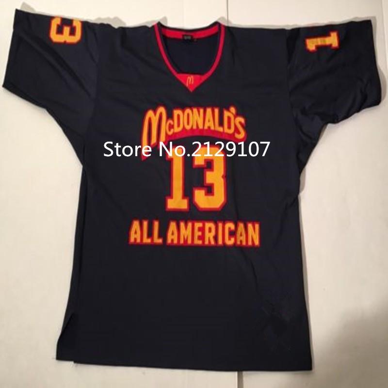 #13 Dan Marino Dolphins McDonald ALL AMERICAN high quality basketball jerseys #4 JONNY FLYNN Retro throwback Cheap menswear(China (Mainland))
