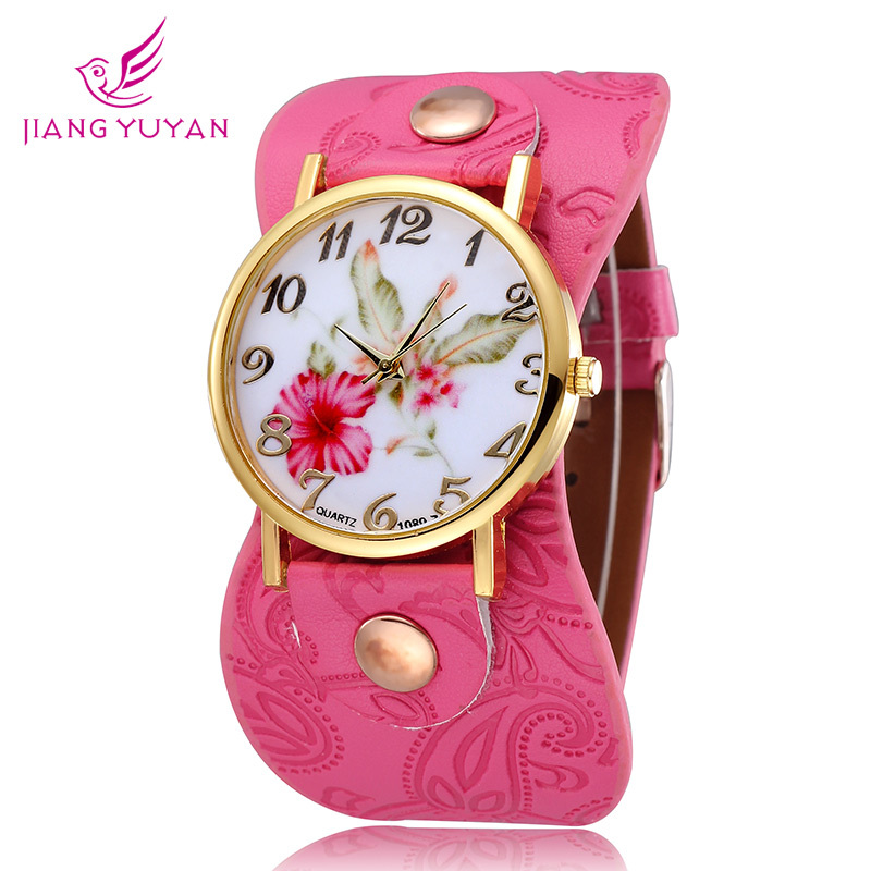 2015 Real Hardlex Montre Femme Brand Fower Design Fashion Casual Watch Quartz Straps Polshorloge Women Rucni Sat - Daybreak Technology Co.,Ltd store